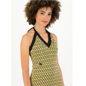 "BLUTSGESCHWISTER Kleid ""Palo Santos Lingerobe"" tiki gold"