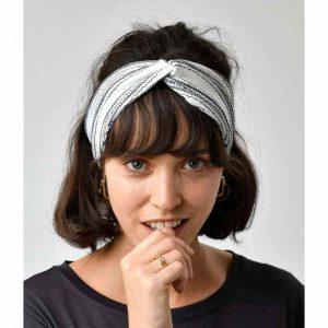 """LOVJOI Haarband """"Painted Lady"""" ivory/black, onesize"""