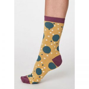 "THOUGHT Socken ""Mamie Bamboo Spot"" buttercup yellow, 36-41"