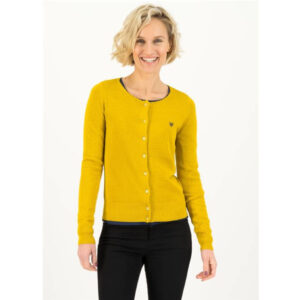 """BLUTSGESCHWISTER Cardigan """"Save the brave"""" yellow"""