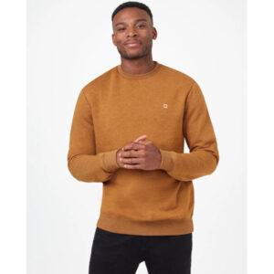 """TENTREE Sweatshirt """"TreeFleece Classic Crew"""" rubber brown heather"""