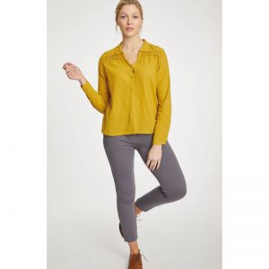 "THOUGHT Bluse ""Alanta"" mustard yellow"