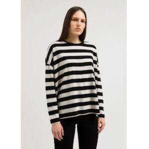 "ARMEDANGELS Longsleeve ""Theaa Big Stripes"" black-kitt"