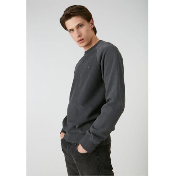 Weicher Sweater in Frottee-Optik mit Bruststickerei. Liegt angenehm auf der Haut dank seiner Bio-Baumwolle-Qualität. Armedangels- Nikolaa- Sweater.