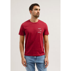 "ARMEDANGELS T-Shirt ""Jaames Ecourage"" intense red"