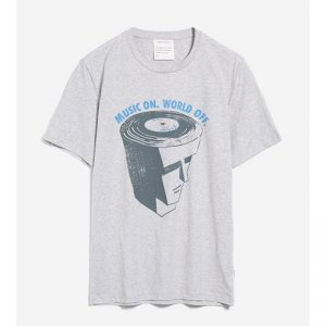 "ARMEDANGELS T-Shirt ""Jaames Music on"" grey melange"