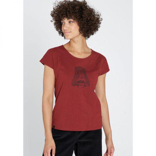 "RECOLUTION T-Shirt ""Squirrel"" autumn red"