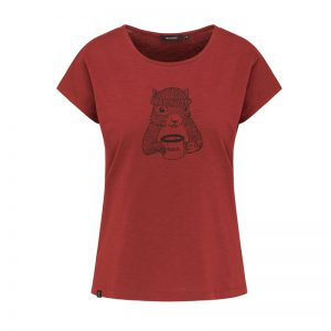 "RECOLUTION T-Shirt ""Squirrel"" autumn red"