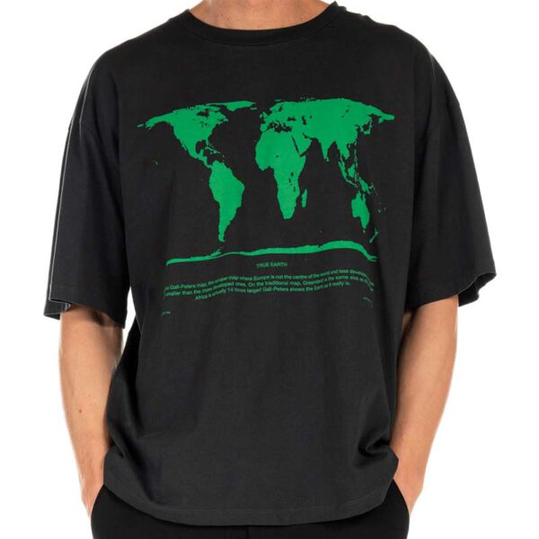"THINKING MU T-Shirt ""Peters Map"" black"