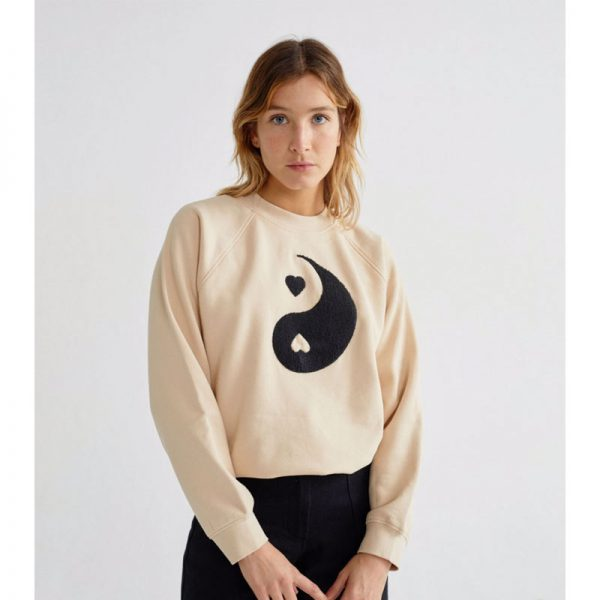 thinking mu sweatshirt ying yang frauen