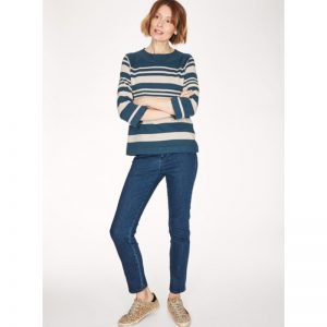 "THOUGHT Strickpullover ""Sail la vie"" majolica blue"