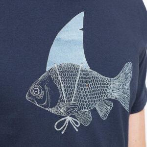 """ZERUM T-Shirt """"Haiflosse"""" navy"""