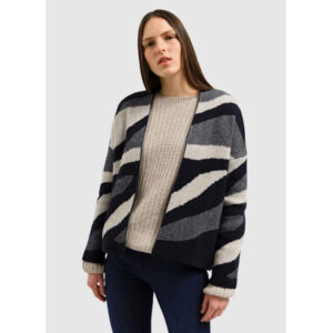 "ARMEDANGELS Cardigan ""Melissaa Natural"" night sky- light caramel"