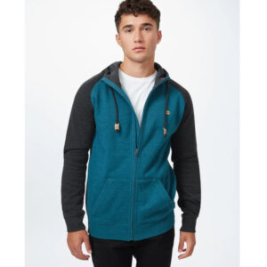 "TENTREE Zip-Hoodie ""Men´s Oberon"" deep teal heather/meteorite black heather"