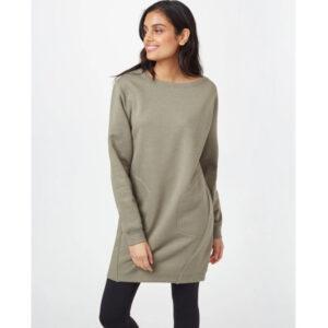 """TENTREE Kleid """"Womens Fleece Crew"""" Vetiver Green Heather"""