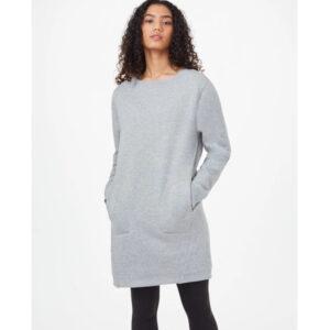 """TENTREE Kleid """"Women's Fleece Crew"""" Hi Rise Grey Heather"""