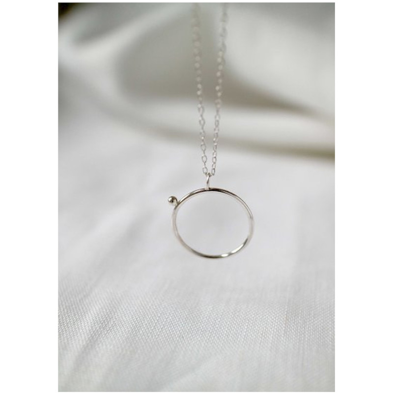 "WILD FAWN Halskette ""Minimal Circle Necklace"" silver, 45cm"