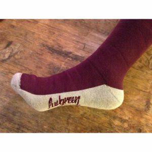 """LUVGREEN Socken """"Terry"""" burgundy-ivory, 2 Größen"""