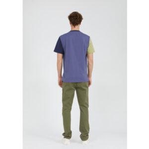 """ARMEDANGELS Herren T-Shirt """"Aado Colorblock"""" light pacific ink-pacific ink"""