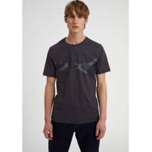 "ARMEDANGELS T-Shirt ""Jaames Dot Mountains"" acid black"