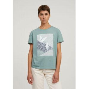 "ARMEDANGELS T-Shirt ""Naalin Primrose Doves"" matcha"