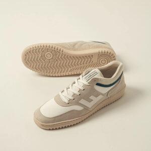 "FLAMINGOS' LIFE Sneaker ""Retro 90's"" beige white monocolor"