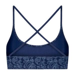 "BLEED Bikini Top ""Econyl Crossback"" blue"