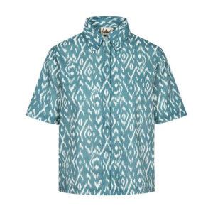 """BLEED Shirt Ladies """"Ikatty Linen"""" blue"""