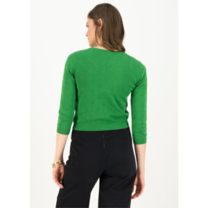 "BLUTSGESCHWISTER Cardigan ""Logo Roundneck shortsleeve"" green"