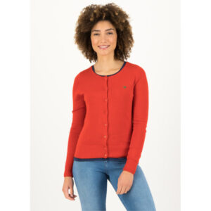 """BLUTSGESCHWISTER Cardigan """"Save The Brave"""" red"""