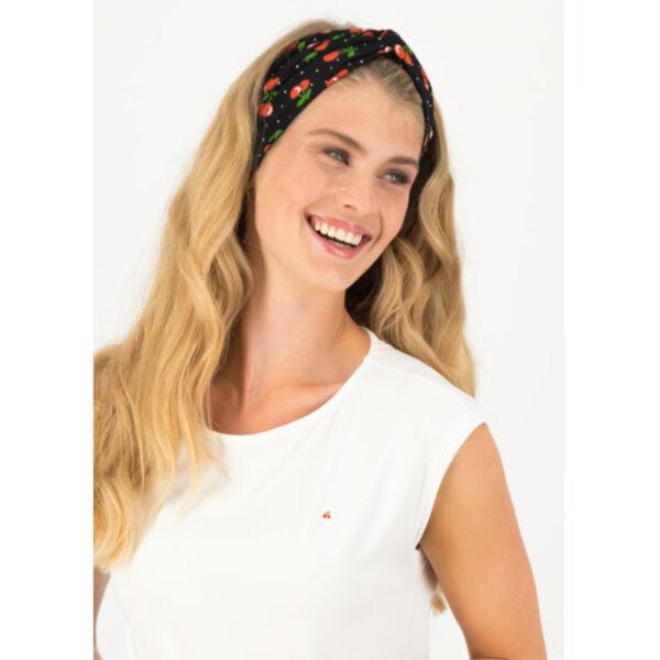 Schickes Haarband mit Kirschmotiv, passend zu den aktuellen Kleidern von Blutsgeschwister, oder auch zu deinem Lieblingsoutfit mit T-shirt und Jeans.