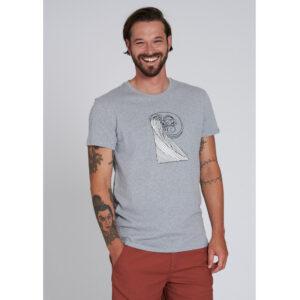 """RECOLUTION T-Shirt """"Recowave"""" grey melange"""