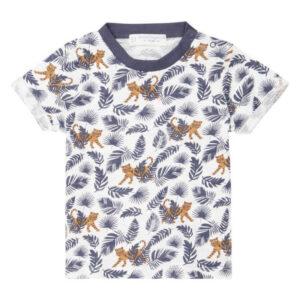 "SENSE ORGANICS Baby Shirt ""Odo"" AOP Tiger"