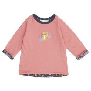"SENSE ORGANICS Baby Wendeshirt ""Dolores"" rose + leopard"