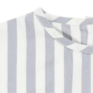 "SENSE ORGANICS Shirt ""Liddy"" dusty blue stripes"