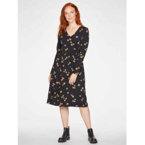 """THOUGHT Kleid """"Everly Bamboo Jersey Wrap"""" black"""