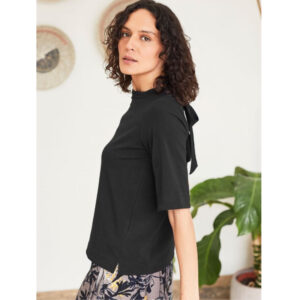 "THOUGHT Top ""Naomi Jersey Tencel™"" black"