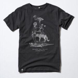 """ZERUM T-Shirt """"World Tour"""" arsenic/white"""