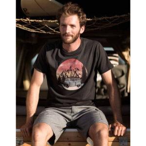 """ZERUM T-Shirt """"Bus"""" arsenic"""