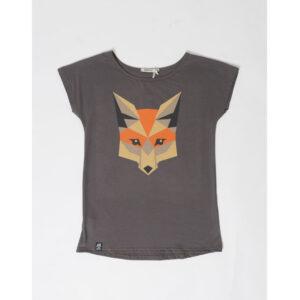 """ZERUM T-Shirt """"Lea Fox"""" stone"""