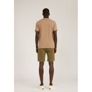 """ARMEDANGELS T-Shirt """"Jaago Stripes"""" burnt olive-sorbet-offwhite"""