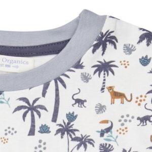 """SENSE ORGANICS Pyjama """"Kafka Retro"""" Palm tree"""