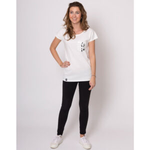 """ZERUM T-Shirt """"Lea Panda"""" arsenic"""