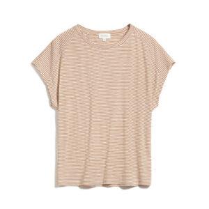 """ARMEDANGELS T-Shirt """"Ofeliaa pretty Stripes"""" toasted hazel-oatmilk"""