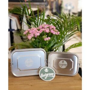"""LUVGREEN Edelstahlbox """"Lunchbox"""" 2 Größen"""